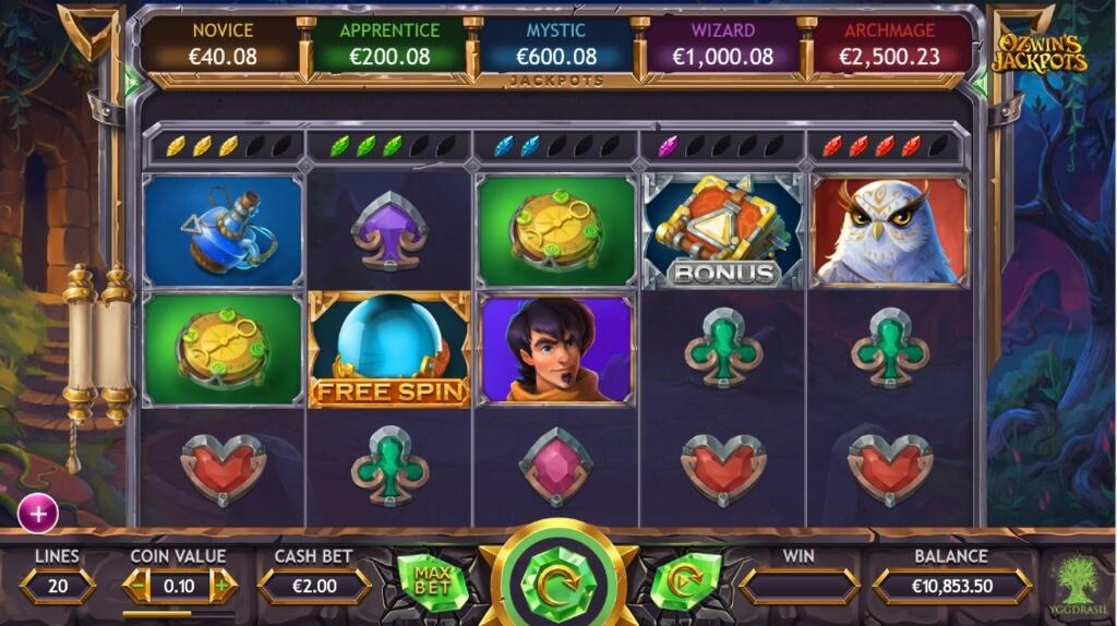 ozwinsjackpotsscreenshot31024x574 - ベラジョンカジノでスロットの大当たりジャックポットの確率は、宝くじ一等賞より高い理由