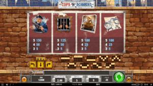 c04 300x169 - 「Cops 'N Robbers(コプスアンドロバーズ)」のスロット紹介&遊び方、ゲーム解説