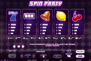 s03 2 300x201 - 「Spin Party(スピンパーティ)」のスロット紹介&遊び方、ゲーム解説