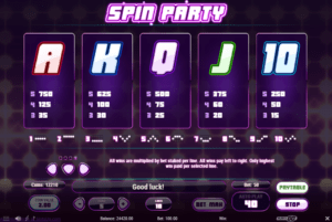 s05 2 300x201 - 「Spin Party(スピンパーティ)」のスロット紹介&遊び方、ゲーム解説