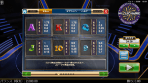 w03 1 300x169 - 「Who Wants To Be A Millionaire(フー・ウォンツ・トゥ・ビー・ア・ミリオネア)」のスロット紹介&遊び方、ゲーム解説